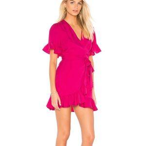 Like + Dot | Cherie Wrap Dress in Fuchsia